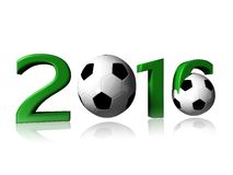 2016 soccer logo. It's a big 2016 soccer logo on a white background royalty free stock photography