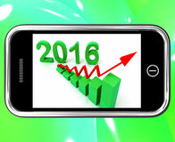 2016 Statistics On Smartphone Showing Expected Growth. And Increase Stock Illustration