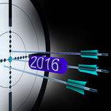 2016 Target Shows Successful Future Growth. 2016 Target Showing Successful Future Growth And Goals vector illustration