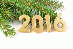 Free 2016 Year Golden Figures Stock Image - 59207441