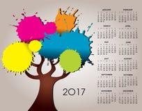 2017年自然和树日历 皇族释放例证