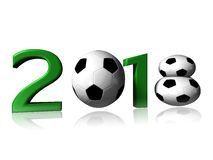 2018 soccer logo. It's a big 2018 soccer logo on a white background stock photo