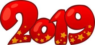2019 С Новым Годом! элементов дизайна стоковое изображение rf