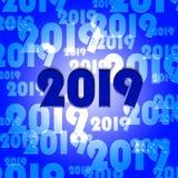 二十十九表明2019个新年并且庆祝 库存图片