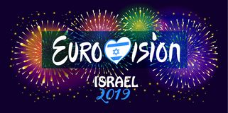 Free 2019 Abstract Eurovision Song Contest International Music Festival Fireworks Israel Royalty Free Stock Photo - 140835285