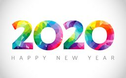 Free 2020 A Happy New Year Logo Stock Images - 158163724