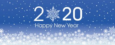 Free 2020 Happy New Year Card Template. Design Patern Snowflakes Royalty Free Stock Photos - 154687128