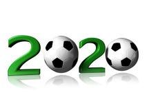 2020 logo piłka nożna Fotografia Stock