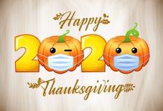 Free 2020 Pumpkins Emo Characters Medical Masks Royalty Free Stock Image - 201081356