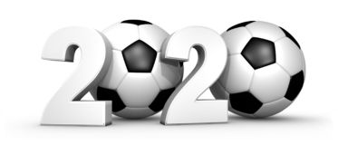 Free 2020 Soccer, Football Tournament And New Year Concept - 3D Illustration Isolated On White Background Stock Images - 160533004