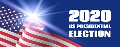Free 2020 US Presidential Election Banner. Vector Template With USA Flag Stock Photos - 147988253