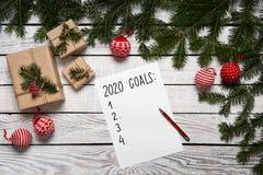 2020 Year Goals List Stock Photos