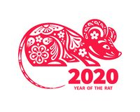 Free 2020 Year Of The RAT Royalty Free Stock Image - 147713446