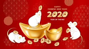 Free 2020 Year Of The RAT Royalty Free Stock Photos - 164666318