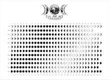 Free 2021 Moon Phases Calendar White Astronomy Vector Chart Stock Photos - 199279033