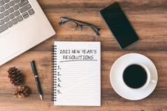 Free 2021 New Year`s Resolutions Text On Note Pad Stock Images - 203688304