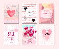 Free 2021 Set Of Greeting Card  Poster  Flyer  Sale Banner  Voucher  Vector Template Trendy Design With `LOVE` Concept  Romance Modern Royalty Free Stock Images - 139347989