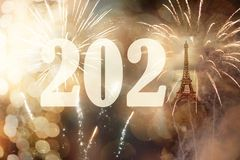 Free 2021 With Eiffel Tower New Year Background And Fireworks Stock Image - 162837551