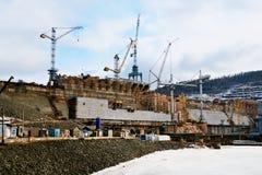 203 - Construção Boguchanskaya GES Imagens de Stock Royalty Free