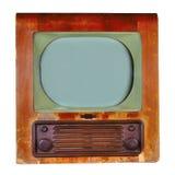 20世纪50年代405线英国电视 免版税库存图片