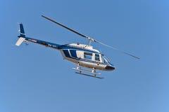 206响铃克罗地亚直升机警察 库存图片