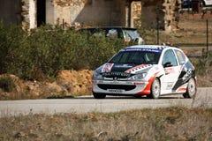 206 gti otwarty Peugeot portuguese wiec Obraz Stock