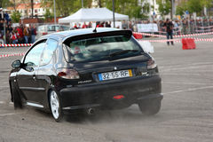206 miast 2012 gti Leiria Peugeot slalom Zdjęcie Stock