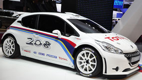 208 Type R5 Peugeot rally car Stock Photography
