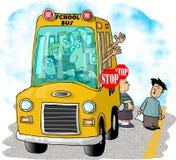 公共汽车学校终止 库存照片