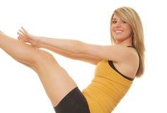 209 blondynką fitness Obrazy Royalty Free