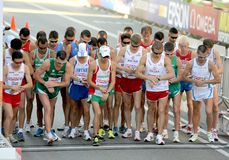 Start of Mens 20km Walk Final