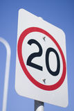 20Km Road Sign Stock Image