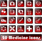 20medicine εικονίδια Στοκ Φωτογραφίες