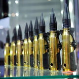 20mm caliber rounds at Singapore Airshow Royalty Free Stock Photography