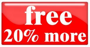 20more libero Immagine Stock