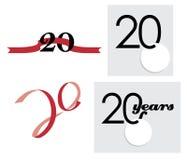 20o ícone dos anos ilustração royalty free