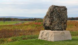 20o monumento da infantaria de Massachusetts Fotografia de Stock