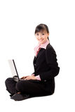 20s asian business woman with a laptop Stock Photos