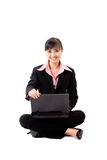 20s asian business woman with a laptop Stock Photography
