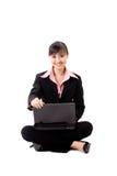 20s laptop azjatykcia biznesowa kobieta Fotografia Stock