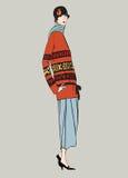 20s podlotek dziewczyny: Mody retro przyjęcie Fotografia Stock