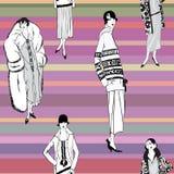 20s podlotek dziewczyny: Mody retro przyjęcie Fotografia Royalty Free