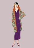 20s podlotek dziewczyny: Mody retro przyjęcie Zdjęcie Stock