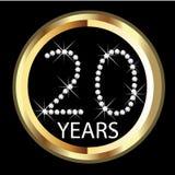 20th årsdagår Arkivbilder