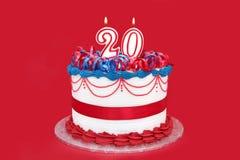20th торт Стоковая Фотография