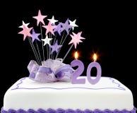 20th cake arkivbilder