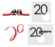 20th icon years Στοκ εικόνα με δικαίωμα ελεύθερης χρήσης