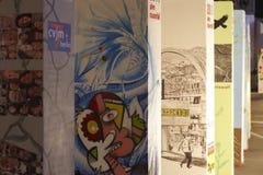 20th vägg för berlin falljubilee Arkivbilder