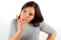 21恼怒的妇女 库存图片