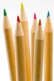 21支色的铅笔 库存照片